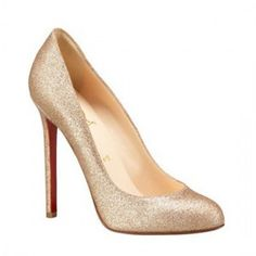 the absolute perfect pump | christian louboutin gold shoe