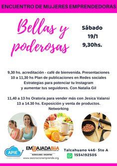Bellas y Poderosas. Mujeres Emprendedoras Marketing, Instagram, Shopping, Public Speaking, Innovative Products, Social Networks, Women