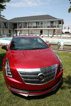 The #Cadillac ELR front and center at the #Montauk Beach House.