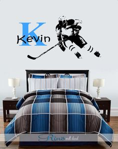 Vinyl Wall Decal Sticker Hockey Equipment OSAA Wall Art - Custom vinyl wall decal equipment