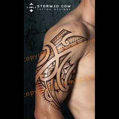 Polynesian / Mauri inspired tribal tattoo designs, buy high resolution design on Storm3d.com
