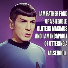 Haha I love the Spock memes! Sir Mix A Lot, Star Wars, Nerd Humor, Geek Humour, I Laughed, Science Fiction, Pop Culture, Haha, Sci Fi