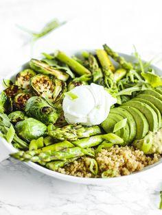 spring green quinoa bowl