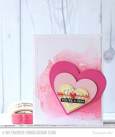 Bling It On, Diamonds Die-namics, Stitched Heart STAX Die-namics, Tag Builder Blueprints 5 Die-namics, Wonky Stitched Rectangle STAX Die-namics - Yoonsun Hur  #mftstamps