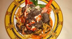 World's most expensive pasta is offered at Bice, NYC Manhattan Restaurants, York Restaurants, Most Expensive Food, Food Collage, Fresh Lobster, New York Food, Food Design, Pasta Dishes, Stuffed Mushrooms