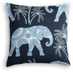 Simple Throw Pillow in Babar - Twilight