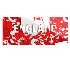 """East Urban Home World Cup 'England' Graphic Art Print on Metal Size: 16"""" H x 20"""" W x 1"""" D"""