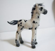 Small Needle felted baby appaloosa horse original by Jhoeymonster
