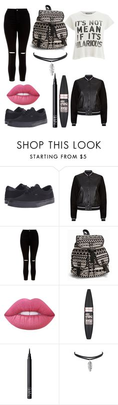 """Untitled #35"" by evalia1291 on Polyvore featuring Vans, rag & bone, New Look, NLY Accessories, Lime Crime, Maybelline, NARS Cosmetics and Wildfox"