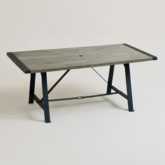 This table has the look of Restoration Hardware at Target prices.  One of my favorite discoveries at WorldMarket.com: Venice Outdoor Dining Table
