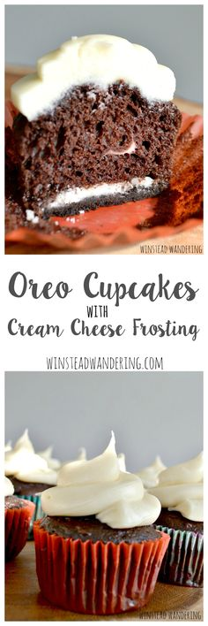 With an Oreo baked inside the moist chocolate cake and a topping of rich cream cheese frosting, these Oreo cupcakes are decadent, sweet, and mouthwatering.