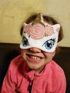 Items similar to Unicorn sleep mask, Unicorn Party Favor, Eye Mask on Etsy Cute Sleep Mask, Party Favors, White Unicorn, Polar Fleece, Travel Gifts, Unicorn Party, Spa Day, Mask For Kids, Gift For Lover