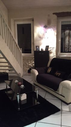 Cribs, Love Seat, Couch, Furniture, Home Decor, Black And White Living Room, Cots, Settee, Decoration Home