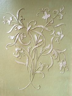 Plaster Stencil Large Mystic Wall Stencil Paint Stencil | VictoriaLarsen - Craft Supplies on ArtFire