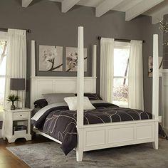 Amazon.com - Home Styles 5530-600 Naples Bed Frame, King, White -