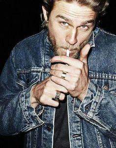 Charlie Hunnam / Jax Teller. Denim. #sonsofanarchy #soa
