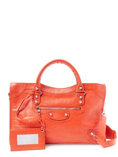 Giant 12 City Arena Lambskin Leather Small Satchel