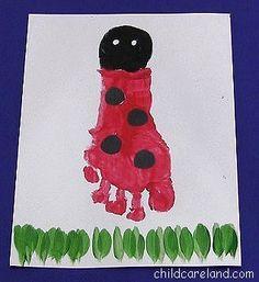 childcareland blog: Footprint Ladybug