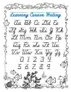 Handwriting guide - ocean from Shellie's Class on TeachersNotebook.com -  (1 page)  - A cute ocean themed cursive handwriting guide.