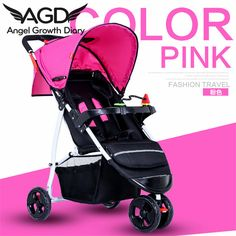 Find More Strollers Information about 2016 New Arrival Baby Stroller Pushchairs For Newborns Cheap baby stroller Portable Folding Bassinet Umbrella Car Can Sit Lie,High Quality strollers lightweight,China stroller parasol Suppliers, Cheap stroller bugaboo from Angel Growth Diary on Aliexpress.com