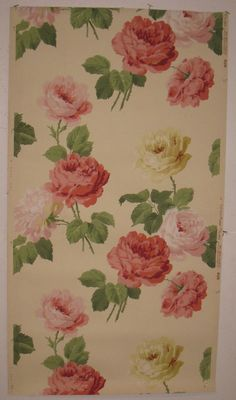 early 20th century american floral wallpaper