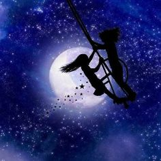 Me and Kak...swinging under the stars..looking for Moma...Mpp