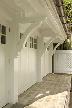 Carriage House Style with Awning or Trellis