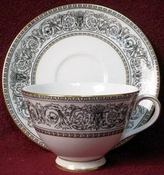 tea cup and tea saucer royal doulton baronet tea cup and saucer ...