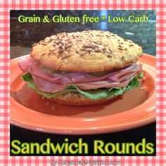 Sandwich Rounds! (Gluten & grain free, low-carb). By Jenny at www.AuNaturaleNutrition.com / #lowcarb shared on https://facebook.com/lowcarbzen