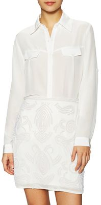 Coco Silk Point Collar Top - Shop for women's tops