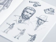 Gangsters illustrations by Artua Design Agency @ Dribbble