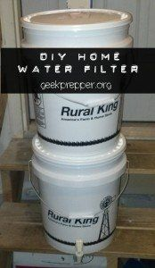 All the protection of a Big Berkey water filter, but at the DIY price. DIY Home Water Filter - geekprepper.org