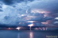 Adriatic sea lightning barrage by Marko Korošec on 500px