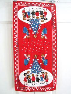 Vintage CHRISTMAS Table Runner Jangaard Danish by NeatoKeen