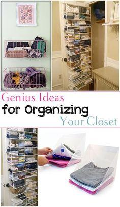 Genius Ideas for Organizing Your Closet. Great Ideas!