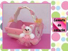 ♥CANASTA EN FORMA DE CORAZON♥- Manualidades recicladas-♥CREACIONES mágicas♥