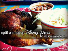 For an easy way to save money, split a meal at Disney World!  Here's a list of restaurants and plates that are big enough to split between two adults.