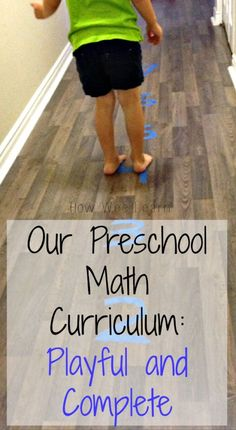 Our FREE Playful Preschool Math curriculum.  Full of fun and hands on math activities focusing on 6 important areas of math development for 3 and 4 year olds!  How Wee Learn