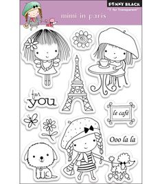 "Penny Black Clear Stamps 4""X6"" Sheet-Mimi In Paris"