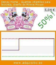 Disney Home - Guantes infantiles para bicicleta, diseño de Minnie Mouse (Producto para bebé). Baja 50%! Precio actual 5,04 €, el precio anterior fue de 10,08 €. http://www.adquisitio.es/disney-home/guantes-infantiles