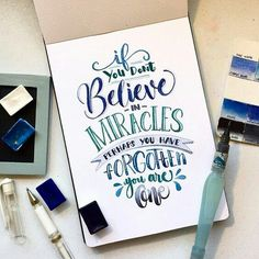 Hand Lettering in Watercolour