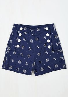 Play by Playful Shorts in Nautical. #blue #modcloth - these are awesome, especially being cotton!