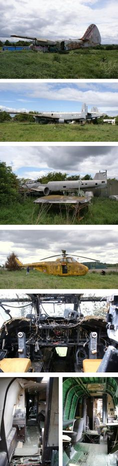Urbex photography of Long Marston aircraft graveyard made up of aircraft abandoned after the aviation museum closed