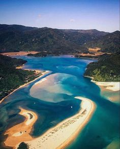 Explore the most beautiful places in New Zealand ▶️ . The incredible Abel Tasman National Park New Zealand Beach, Visit New Zealand, New Zealand Tours, New Zealand Travel, Scenery Pictures, Travel Pictures, Travel Pics, Monuments, Beautiful World