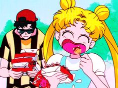 Me when im eating so much food in public and people are like damn that girl is going to be a little fater usagi💖 Sailor Moon Sailor Stars, Sailor Moon Manga, Sailor Moon Crystal, Sailor Moon Funny, Sailor Uranus, Sailor Scouts, Chobits Anime, Sailor Saturno, Sailor Moon Screencaps