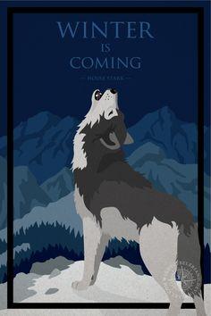 Game of Thrones posters - house Stark by WindsOfBeleriand.deviantart.com on @DeviantArt