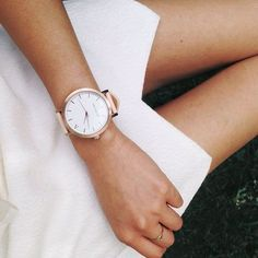 We are coveting this beautiful The Fifth rose gold watch.