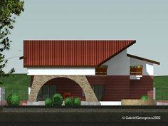 case-cu-etaj-00-004 Dena, Cabin, House Styles, Outdoor Decor, Home Decor, Cabins, Cottage, Interior Design, Home Interior Design