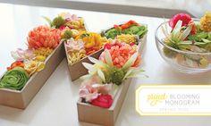 Letras decoradas con flores