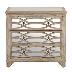 Lillian Mirrored 3-Drawer Chest | Kirklands